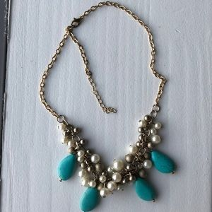 Jewelry - Pearl and Turquoise Necklace